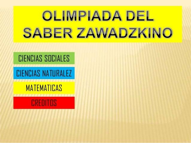 CIENCIAS SOCIALES CIENCIAS NATURALEZ MATEMATICAS CREDITOS