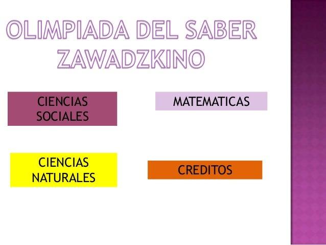 CIENCIAS SOCIALES CIENCIAS NATURALES MATEMATICAS CREDITOS