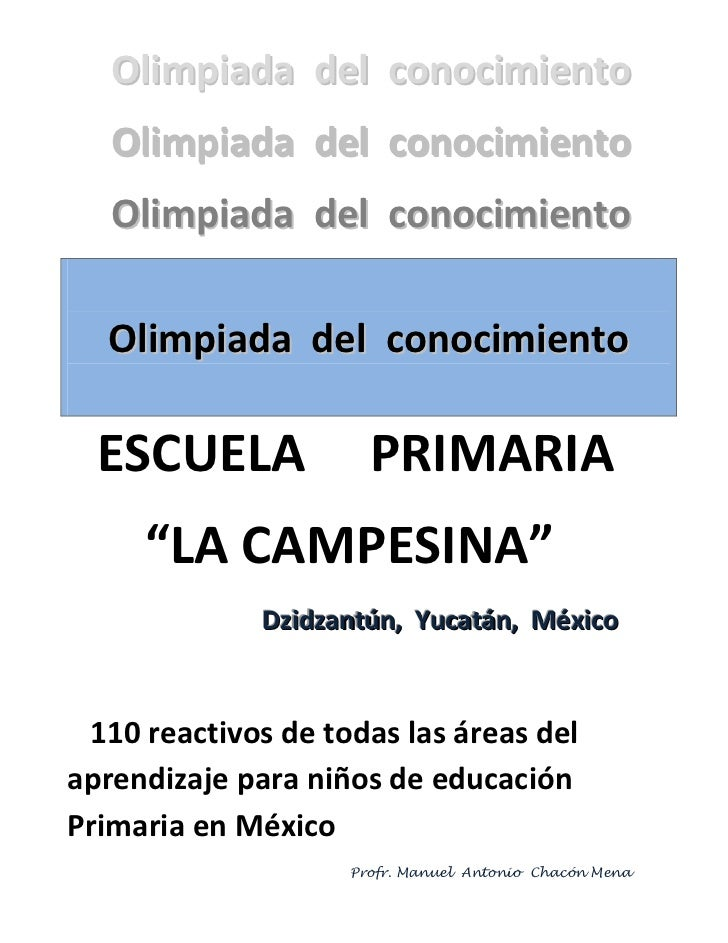 Olimpiada del conocimiento   Olimpiada del conocimiento   Olimpiada del conocimiento  Olimpiada del conocimiento  ESCUELA ...