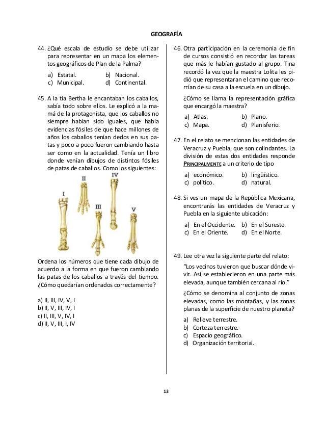 Examen Olimpiada del Conocimiento