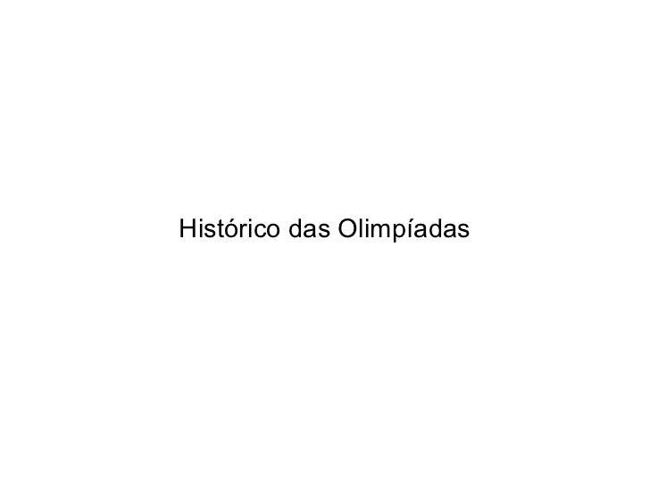 Histórico das Olimpíadas