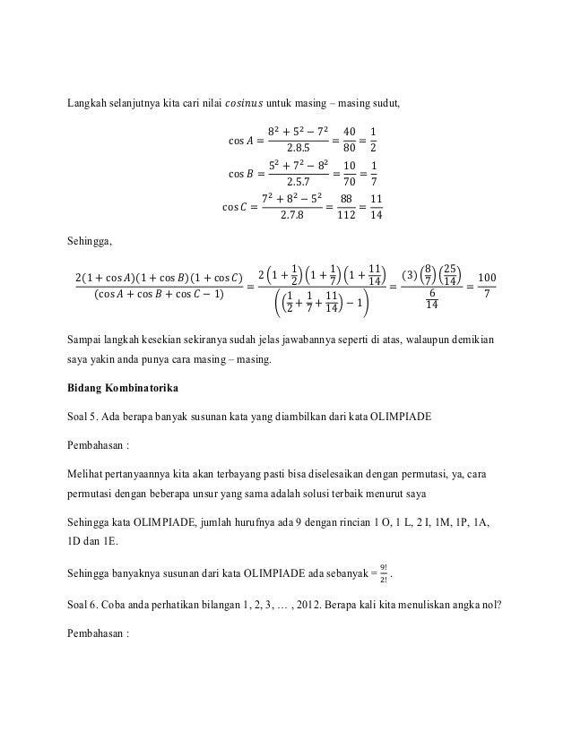 Soal Dan Pembahasan Kombinatorika Ilmusosial Id