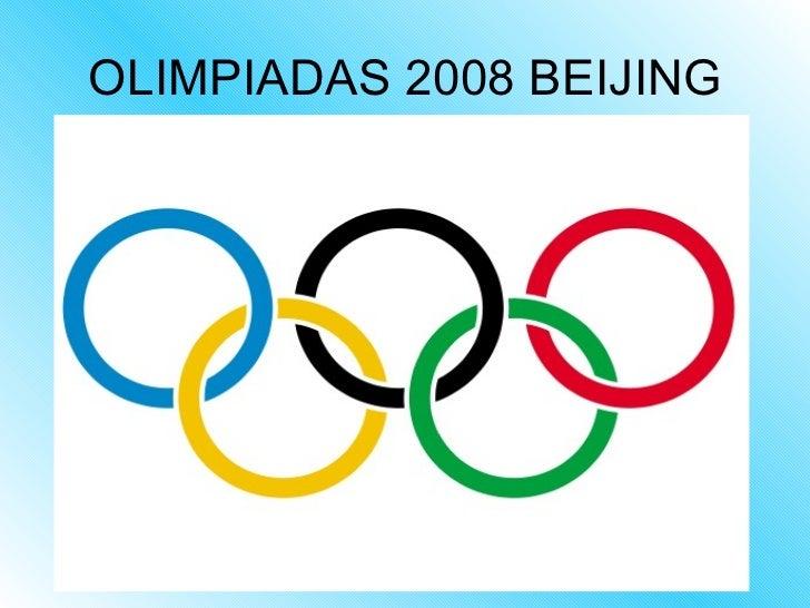 OLIMPIADAS 2008 BEIJING