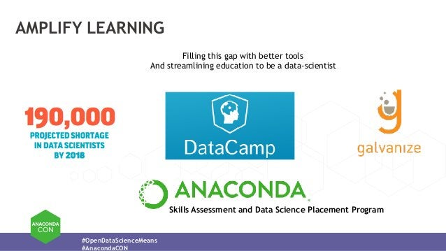 #OpenDataScienceMeans #AnacondaCON AMPLIFY LEARNING Filling this gap with better tools And streamlining education to be a ...