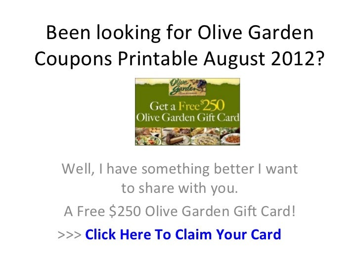 Olive garden coupons printable august 2012 - Olive garden coupons august 2017 ...