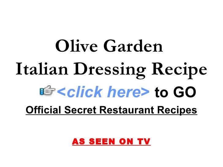 Olive Garden Italian Dressing Recipe