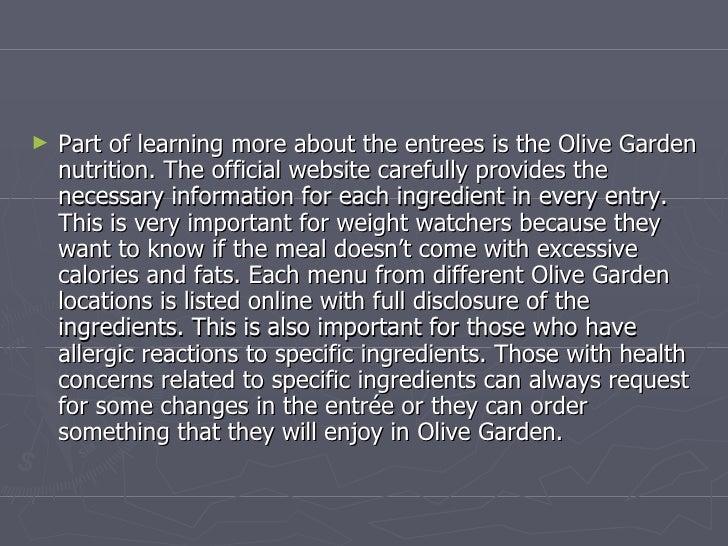 Olive Garden Menu Enjoying The Delightful Olive
