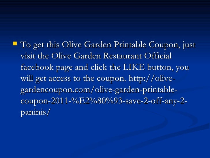 graphic regarding Olive Garden Printable Coupon called Olive back garden printable coupon 2011