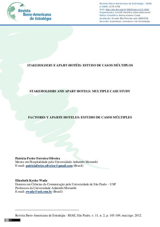 Revista Ibero-Americana de Estratégia - RIAE                                                                e-ISSN: 2176-0...