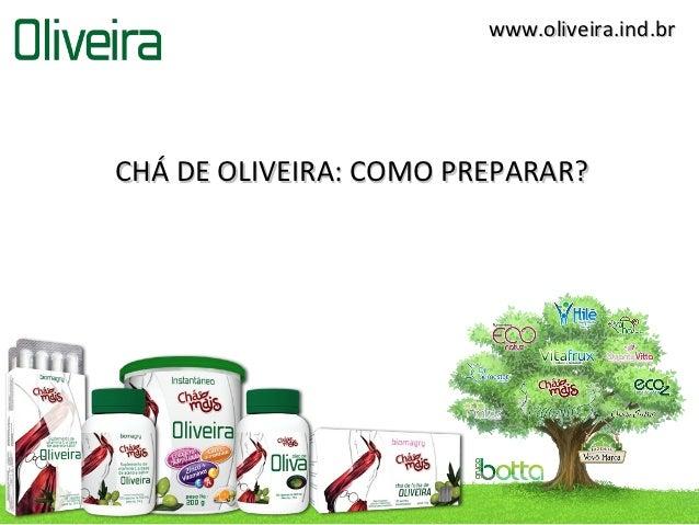 www.oliveira.ind.brCHÁ DE OLIVEIRA: COMO PREPARAR?
