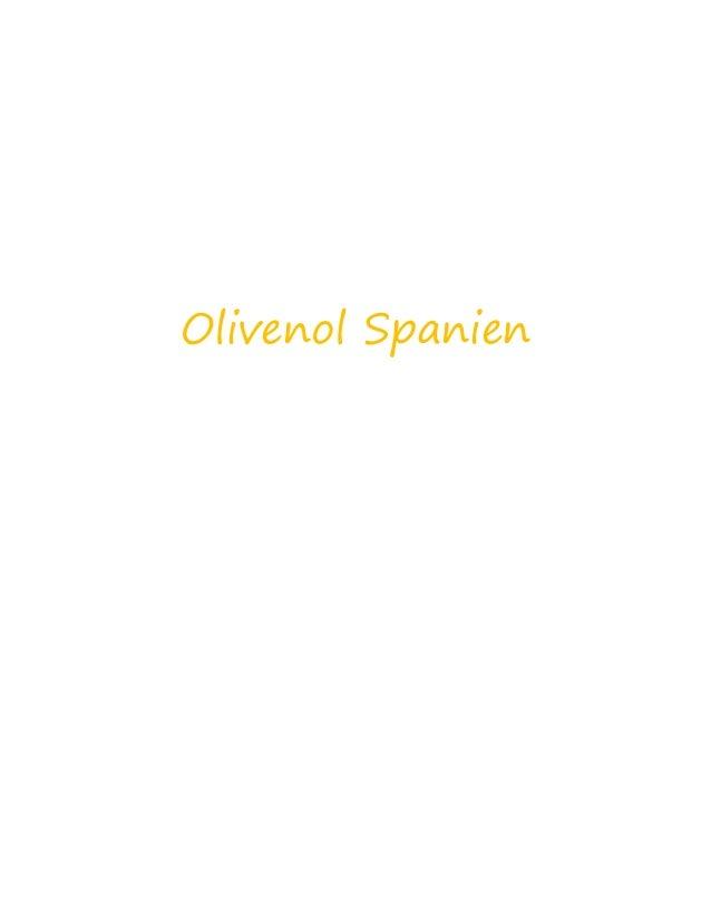 Olivenol Spanien