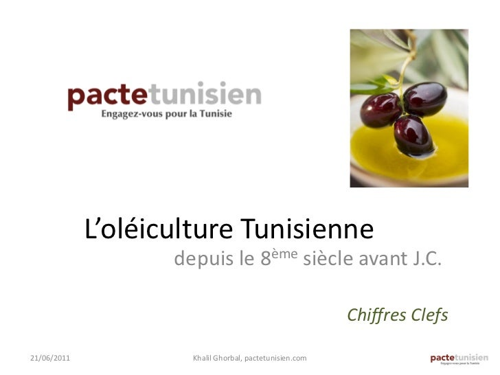 L'oléiculture Tunisienne                    depuis le 8ème siècle avant J.C.                                              ...