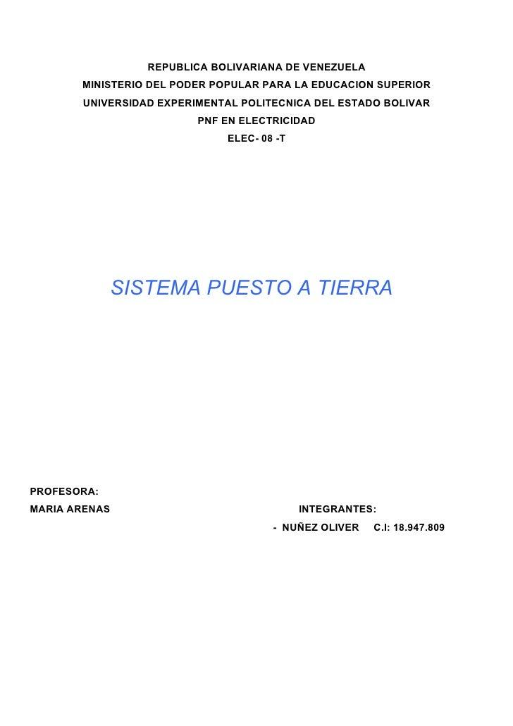 REPUBLICA BOLIVARIANA DE VENEZUELA        MINISTERIO DEL PODER POPULAR PARA LA EDUCACION SUPERIOR        UNIVERSIDAD EXPER...