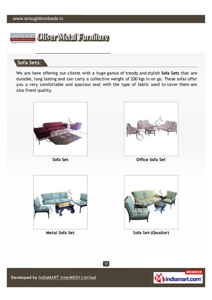 Sofa Sets:We are here offering our clients with a huge gamut of trendy and stylish Sofa Sets that aredurable, long lasting...