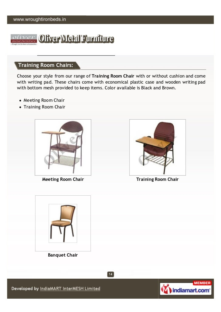 Training Room Chairs:Choose your style from our range of Training Room Chair with or without cushion and comewith writing ...