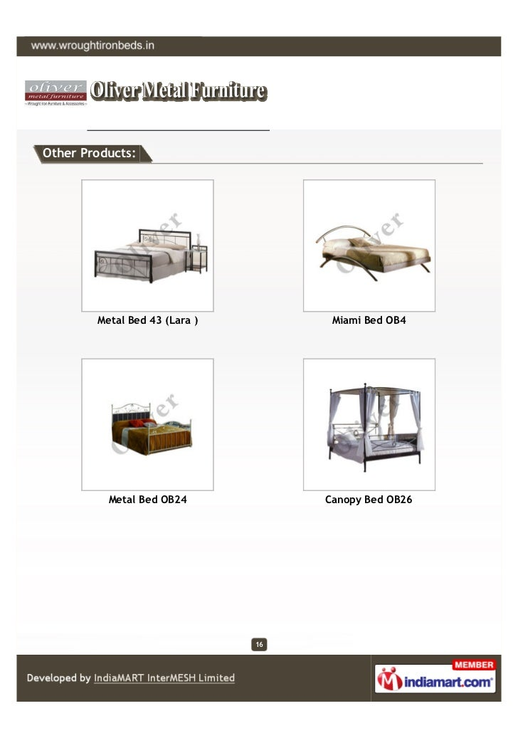 Other Products:        Metal Bed 43 (Lara )         Miami Bed OB4          Metal Bed OB24            Canopy Bed OB26      ...