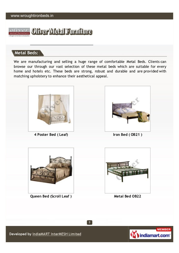 Metal Beds:We are manufacturing and selling a huge range of comfortable Metal Beds. Clients canbrowse our through our vast...