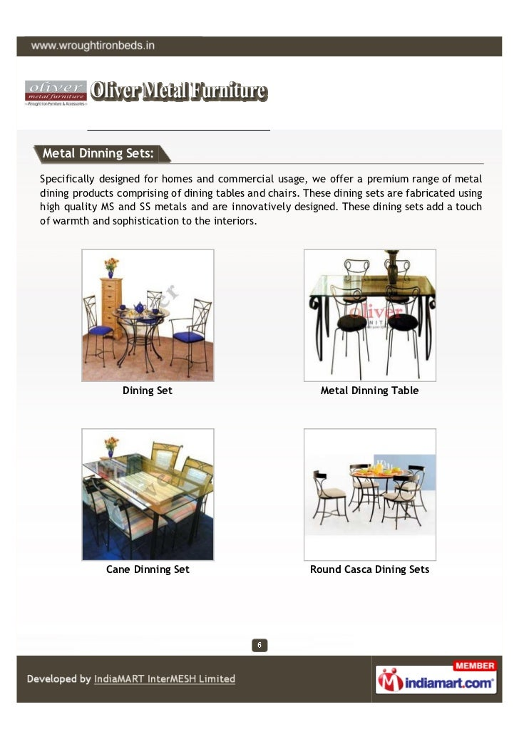 Metal Dinning Sets:Specifically designed for homes and commercial usage, we offer a premium range of metaldining products ...