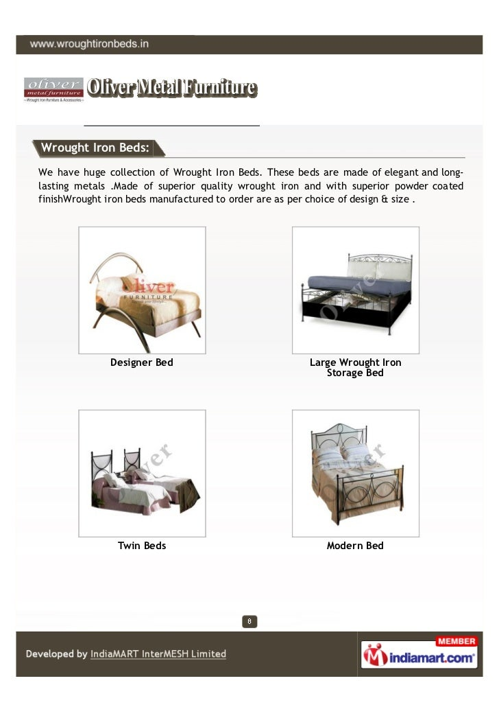 Wrought Iron Beds:We have huge collection of Wrought Iron Beds. These beds are made of elegant and long-lasting metals .Ma...