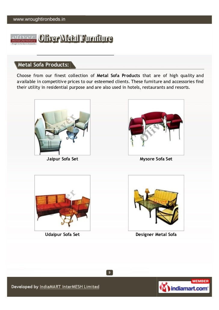 Metal Sofa Products:Choose from our finest collection of Metal Sofa Products that are of high quality andavailable in comp...