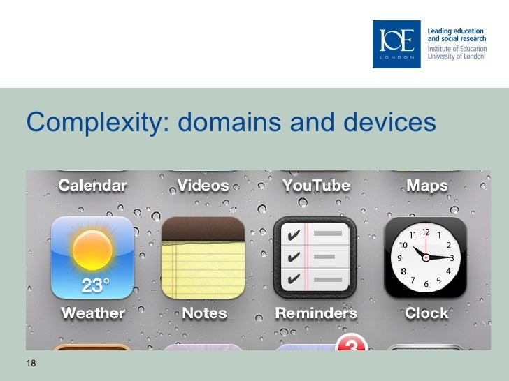 Complexity: domains and devices18