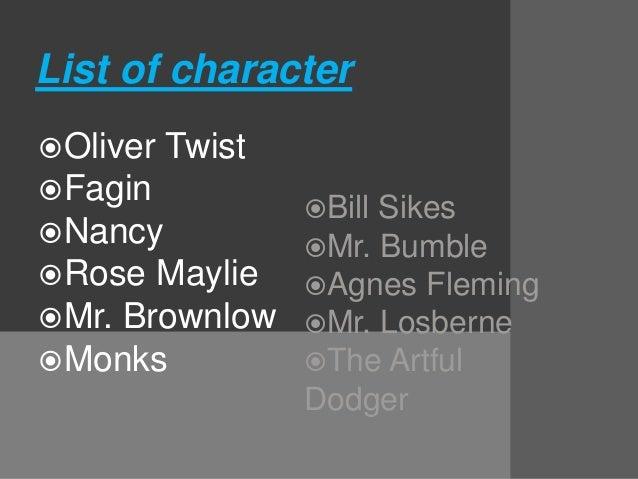 Oliver twist character list