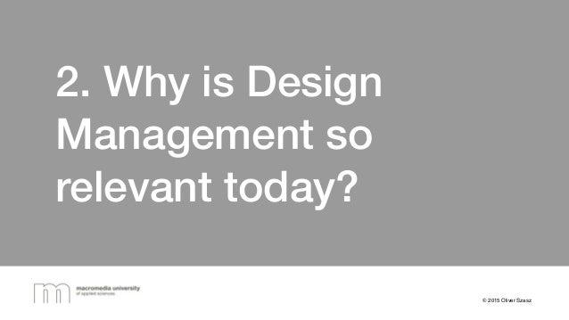 Prof. Oliver Szasz presents: Design Management and Design
