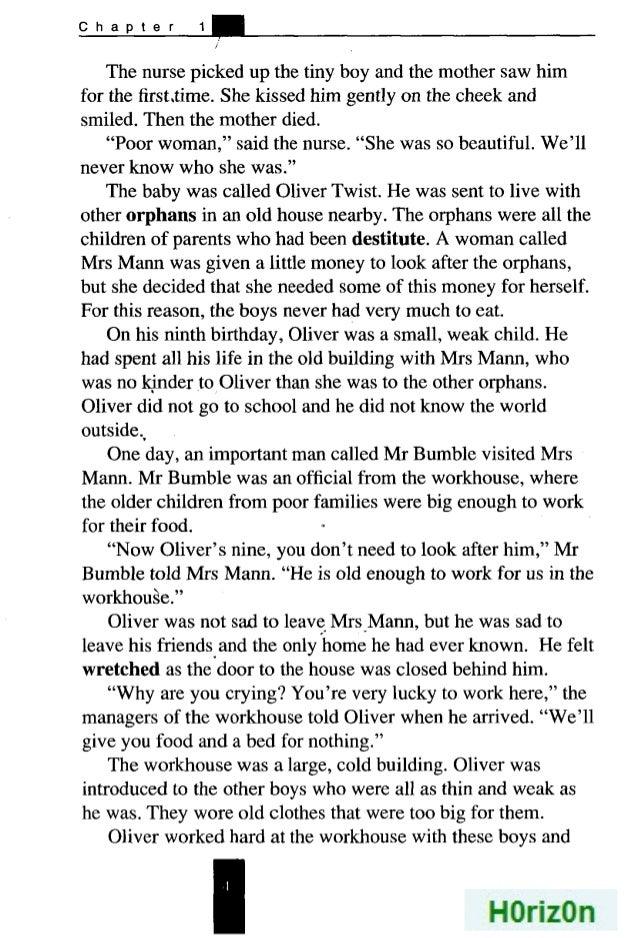 Oliver Twist Story Pdf