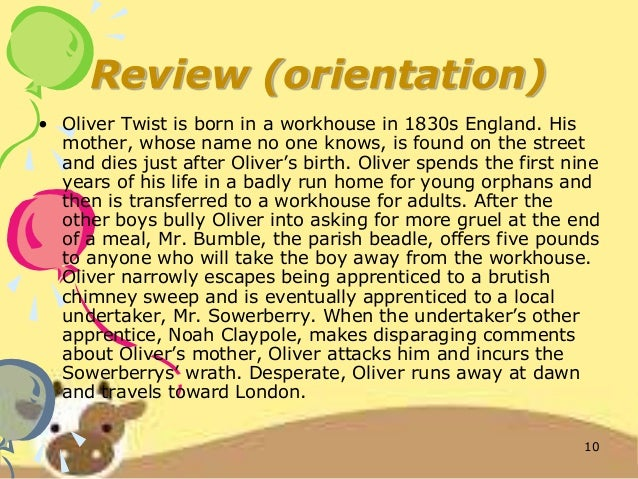 book report on oliver twist The title of the book is very easy to explain it called oliver twist because it tells the life story of oliver further reveals the title that the book goes about a certain person called oliver twist however a link from the title to the theme is hard to find in first stand after reading the book.