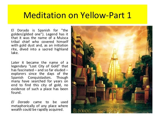 a meditation on yellow summary Location of the yellow court (ds 73a htj § 5) 11  finally use alchemical  techniques of meditation and.