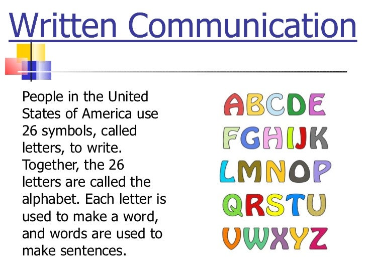 <ul><li>People in the United States of America use 26 symbols, called letters, to write. Together, the 26 letters are call...