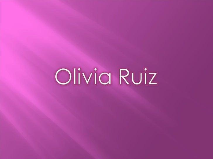 Olivia Ruiz (Blanc) Mª Margarida Slide 2