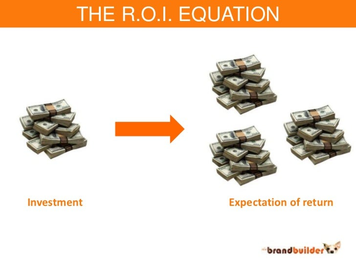 THE R.O.I. EQUATION<br />Investment<br />Expectation of return<br />