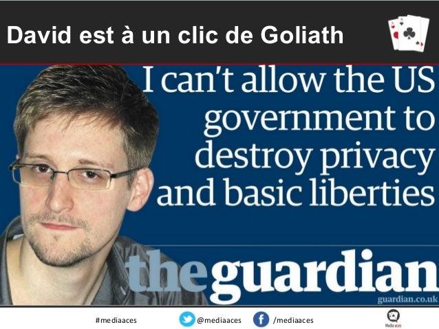 David est à un clic de Goliath  #mediaaces  @mediaaces  /mediaaces