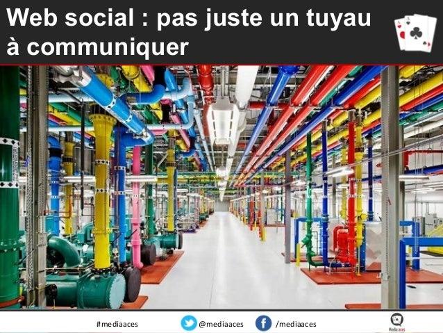 Web social : pas juste un tuyau à communiquer  #mediaaces  @mediaaces  /mediaaces