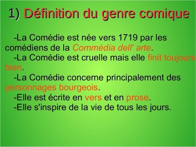La com die for Definition de la farce