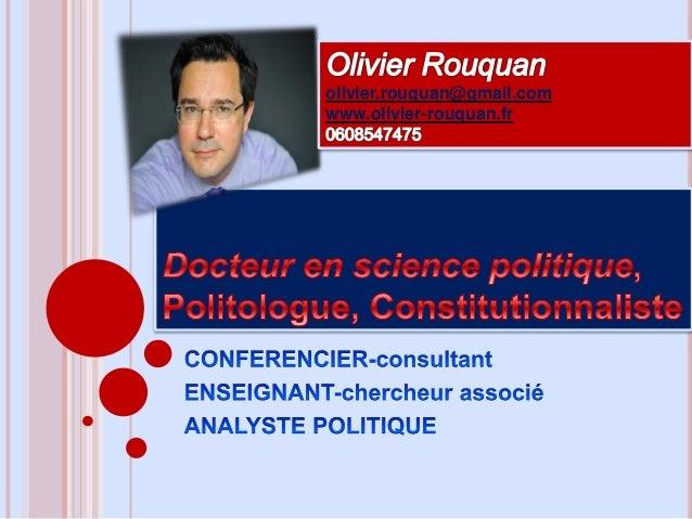olivier.rouquan@gmail.com www.olivier-rouquan.fr