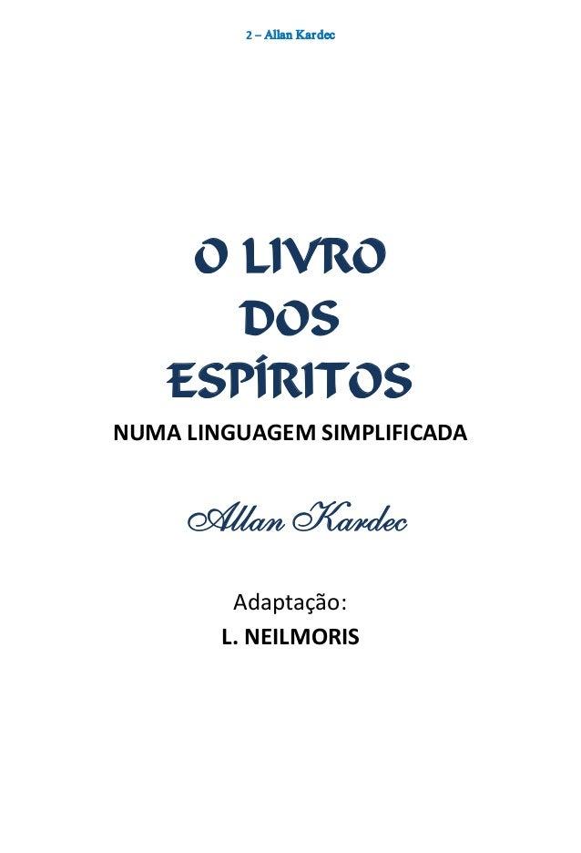 O livro dos espíritos numa linguagem simplificada