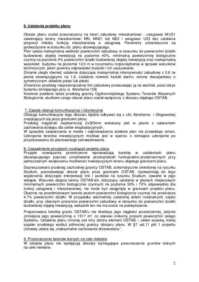 Oliwa – VII Dwór rejon ulicy abrahama druk 1190 uzasadnienie Slide 2