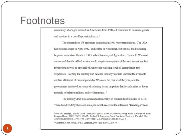 where do footnotes go in an essay