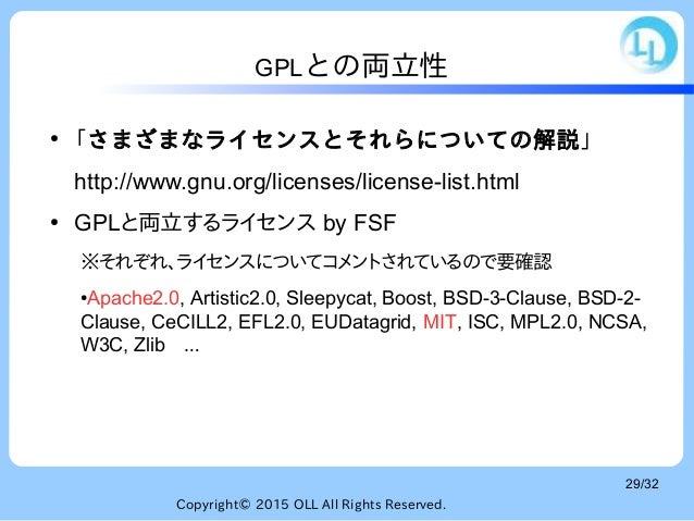OSIの定義に基づくOSSライセンス...