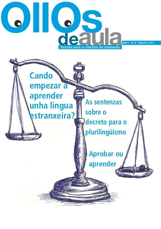 OllOs   deaula Revista para as familias do alumnado                                                 ANO I - Nº 4 - Febreir...