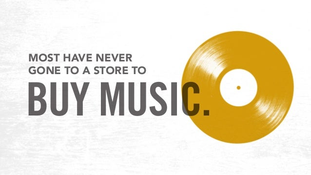 MOST HAVE NEVER GONE TO A STORE TO BUY MUSIC.
