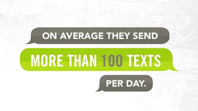 MORE THAN 10O TEXTS ON AVERAGE THEY SEND PER DAY.