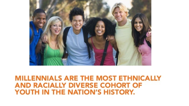 MILLENNIALS ARE THE MOST ETHNICALLY AND RACIALLY DIVERSE COHORT OF YOUTH IN THE NATION'S HISTORY.