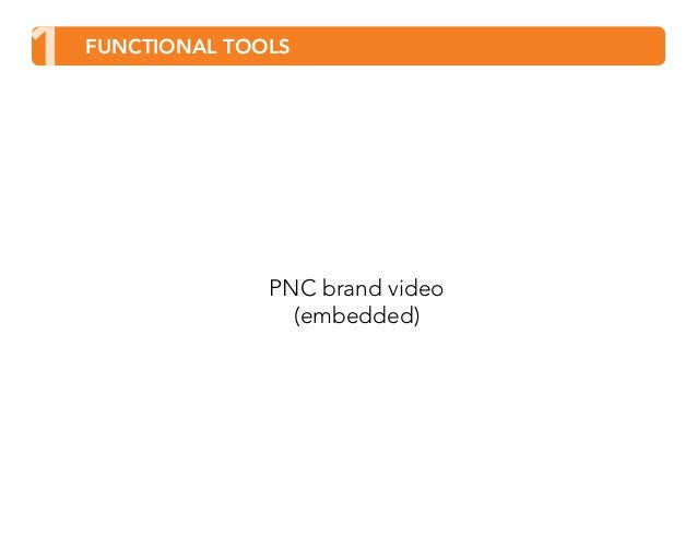 1 FUNCTIONAL TOOLS  PNC brand video  (embedded)