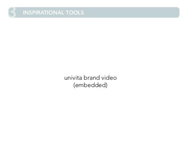 3 INSPIRATIONAL TOOLS  univita brand video  (embedded)