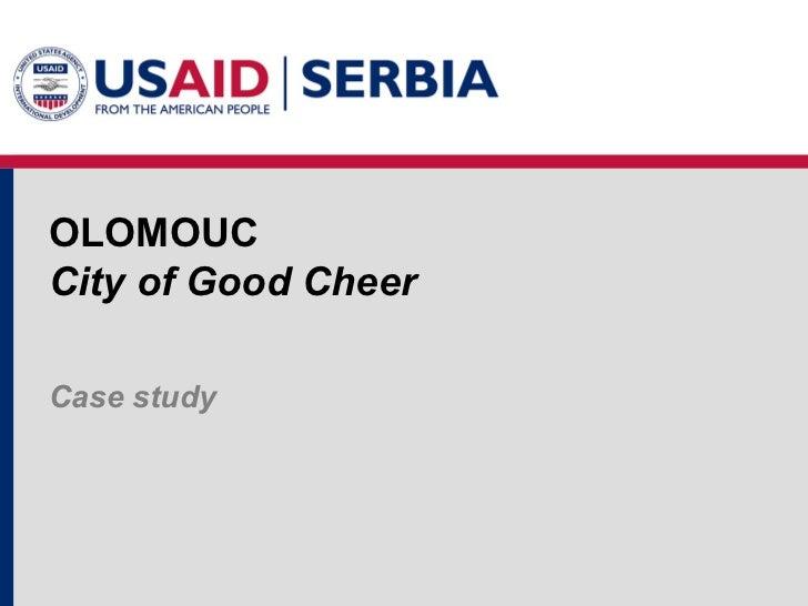 OLOMOUC City of Good Cheer Case study