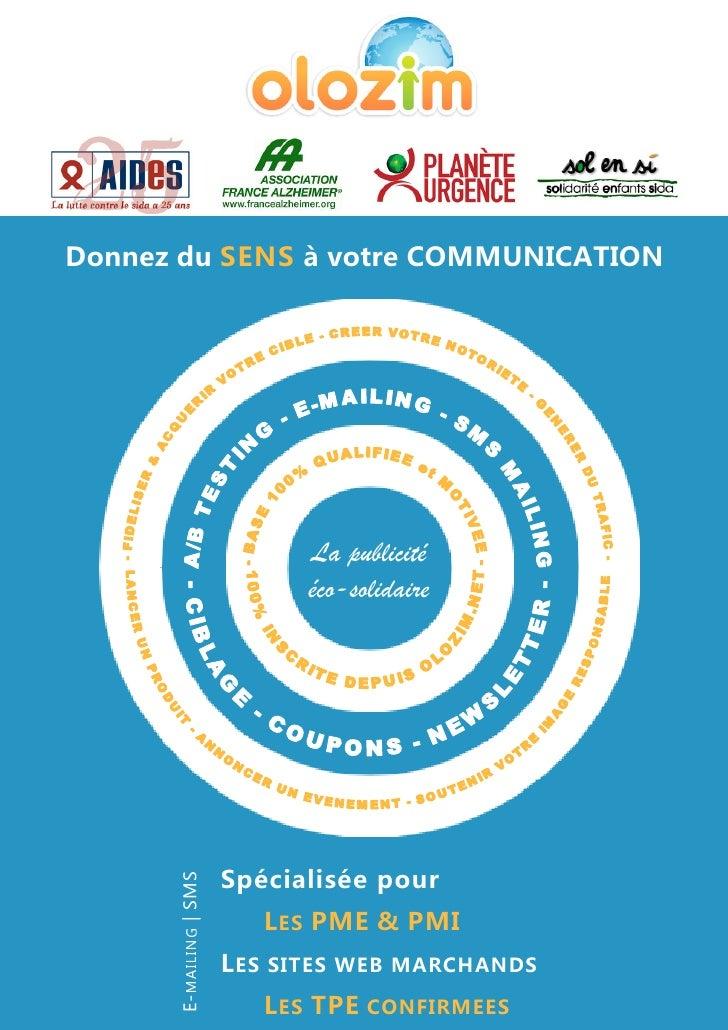 Donnez du SENS à votre COMMUNICATION                              La publicité                          éco-solidaire     ...