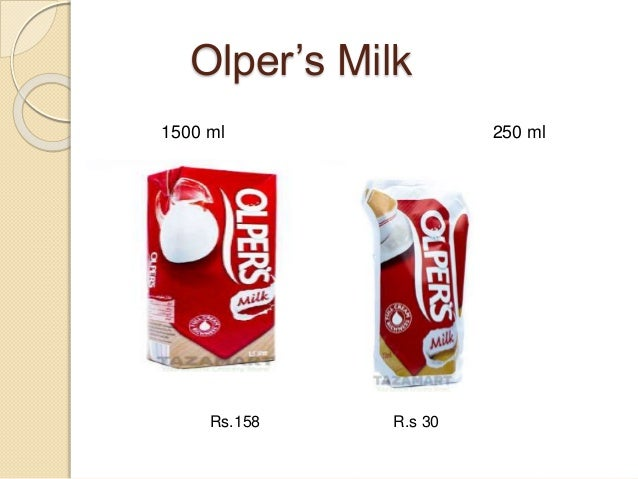 market analysis of olpers milk pak Dairy products industry comprises companies that operate by selling primarily milk, cheese and butter products operators in the dairy product industry mainly manufacture dairy products such as pasteurized milk, cream, yogurt, and dry, condensed and evaporated milk.